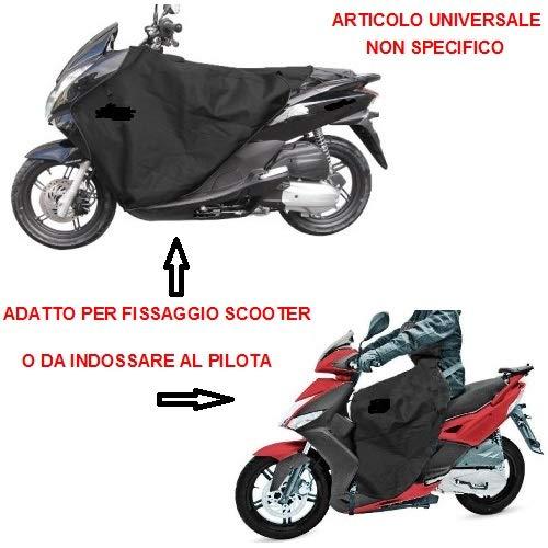 Compatibel met Piaggio Zip 50 SP waterdichte thermodeken voor scooters en Maxicooter Universal schort voor borstband met kunstleer