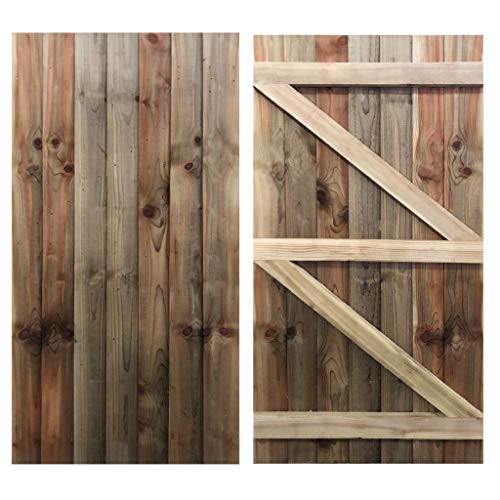 Ruby Featheredge Gate Wooden Garden Side Gate Green Treated 1.8m x 0.9m