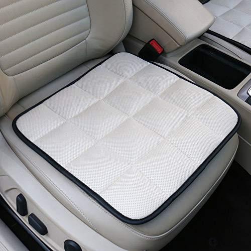 YLCJ MemoryL Autostoel Voorkussen voor zitting, Auto Compleet met Geventileerde stoelhoezen Ademendheid Comfortabele Universele Autostoel Driver Bodem - Wit 43x43cm (17x17inch)