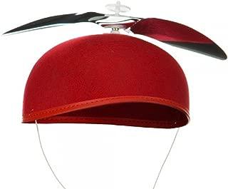 Red Propeller Beanie Hat