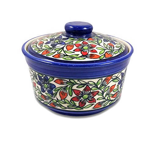 India Meets India Thanksgiving Handicraft Ceramic Serving Bowl with Lid Mixing Bowls Dinner Bowl...