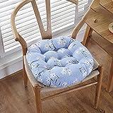 ANGANGAN Meditación Cojín Forma Redonda 55X55cm Flor perfumada azul Meditación Mat algodón lino cómodo salón jardín terraza estera