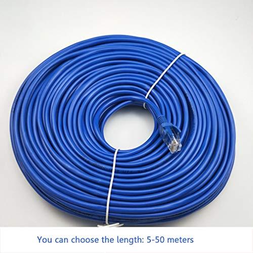 Fijner 5/10/15/20/25/30/50 CM CAT5 100M RJ45 Ethernet-kabels Connector Ethernet Internet Netwerkkabel Snoer Draadlijn blauw Rj 45 Lan, 50m