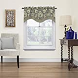Waverly Clifton Hall Rod Pocket Curtains for Kitchen and Living Room, 52' x 18', Flax