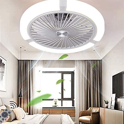 Luz del ventilador de techo, Ventilador de techo con luz, 7 cuchillas Ventiladores de techo Lámpara de acrílico, Control remoto Interior LED regulable, Ventilador LED Luz de techo 3 Velocidades y Temp