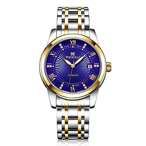 Relojes para Hombre, Reloj de Pulsera, Regalos para Hombre, Reloj mecánico automático, Esfera Luminosa con Moda Impermeable -A