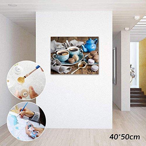 NEWSTARTS Ölkuchen DIY Malen Nach Zahlen Moderne Home Wandkunst Bild Kits Acryl Handgemalte Kaffee Malerei Für Geschenk 40x50 cm Hause DIY Malen Nach Zahlen Kreative Wohnkultur