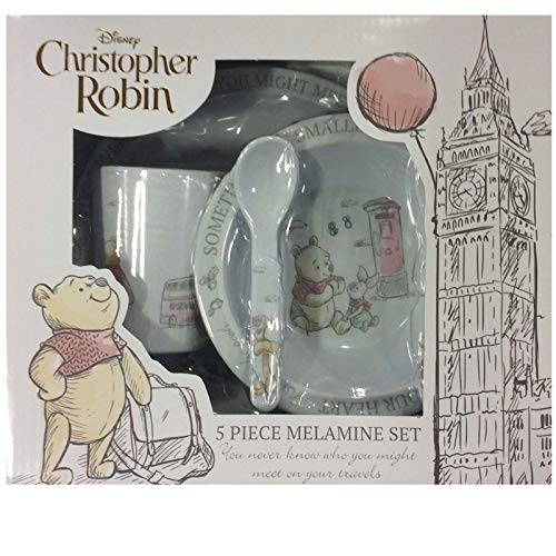 Disney Christopher Robin - Vajilla de melamina (5 piezas)
