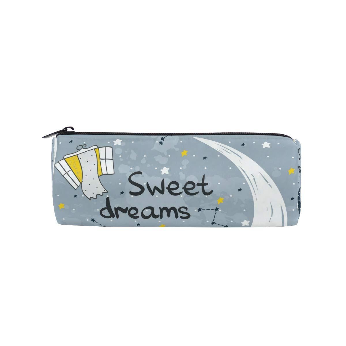 Estuche para lápices con diseño de constelaciones de lindos sueños para niños, niñas, estudiantes, bolsa para bolígrafos, bolsa de maquillaje redonda: Amazon.es: Oficina y papelería