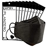 Premium Filters (KF94 Certified) Face Mask (Made in Korea) Respirators Protective Disposable Safety Dust Covers (Adults) Individual Package (Black) 10 Pack