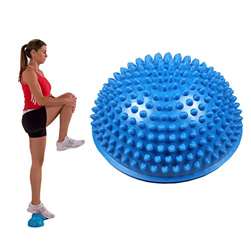 OFKPO voeten, massagebal, balansbal/yoga-egelbal ideaal voor voetmassage (blauw)