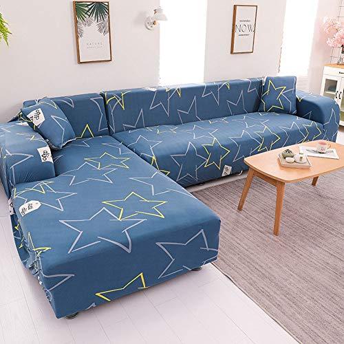 Las más Nuevas Fundas de Sofá ajustables extragrandes de jacquard para sofá de cojín 1/2/3/4,funda de sofá para perros, niños, mascotas,funda para sofá antideslizantes súper Elásticas(Azul)(C