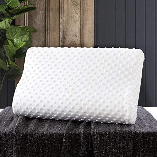 Nueva almohada de espuma de memoria alivio del cuello almohada de rebote lento cojines de fibra de bambú cuidado de la salud cervical ortopédico cuello espuma almohada