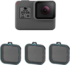 Neutral Density ND Filters Set with ND4 ND8 ND16 Lens Filters for GoPro Hero 2018/5/ 6 - Pack of 3