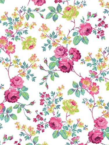 Decopatch Papier No. 718 (pink bunt weiß Rosen, 395 x 298 mm) 3er Pack
