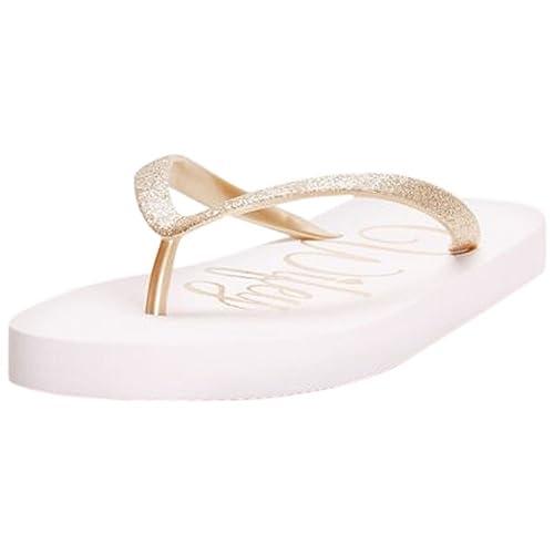 c7d22eb7ef0de3 David s Bridal Wifey Glitter Flip Flops Style Wifey