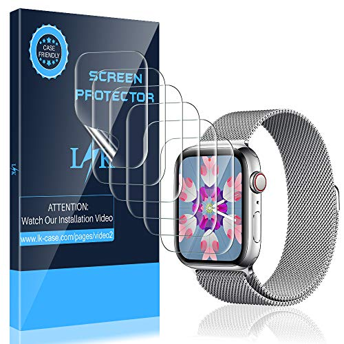 LK [6 Pack] Screen Protector for Apple Watch 38mm Series 3 2 1 - Max Coverage Bubble-Free Anti-Scratch iWatch 38mm Flexible TPU Clear Film
