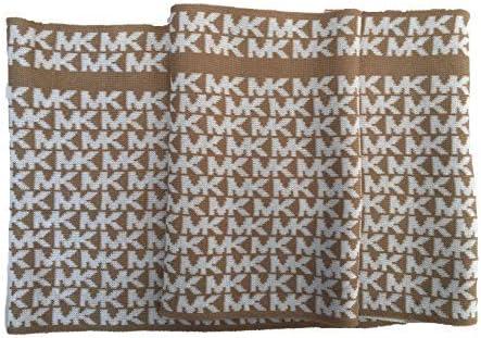 Michael Kors Small Signature Infinity Scarf Camel/Cream
