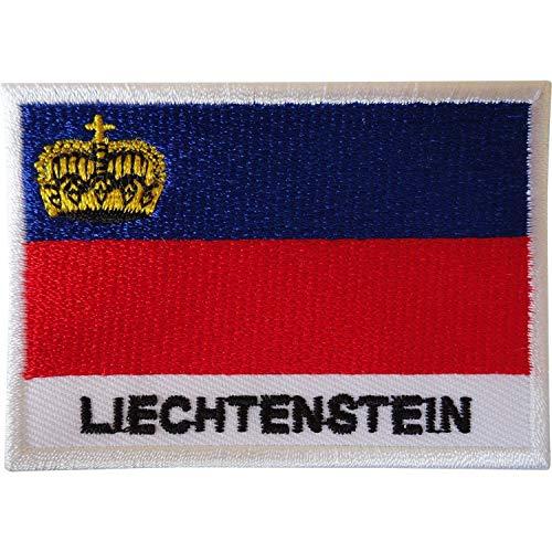 Aufnäher mit Liechtenstein-Flagge, bestickt
