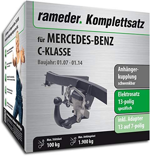 Rameder Komplettsatz, Anhängerkupplung schwenkbar + 13pol Elektrik für Mercedes-Benz C-KLASSE (123630-06224-3)