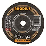 Rhodius XT10 Mini - Discos de corte (extra finos, 50 mm de diámetro, para amoladora recta o de aire comprimido, 50 unidades)