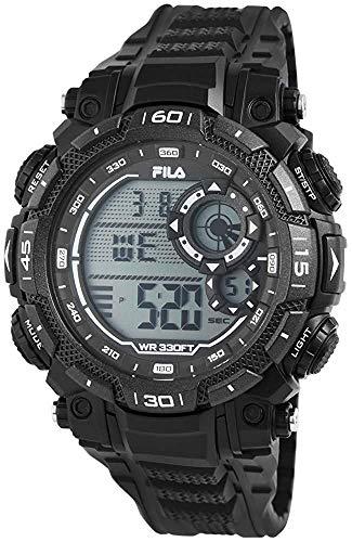 Fila Unisex Erwachsene Digital Quarz Uhr mit PU Armband FILA38-826-003