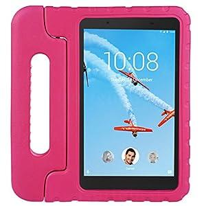cradle HR Compatible con niños Funda protectora para Lenovo Tab 4 8/8 Plus 8 pulgadas Tablet, EVA ligera funda protectora a prueba de golpes (magenta)