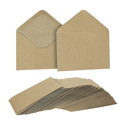 Juvale Kraft Invitation Envelopes (100 Count), 4.75 x 6.5 Inches
