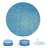 XIKUO WOCAO - Cubierta de piscina de 10 pies para piscinas con estructura, cubierta solar rectangular para piscina, película de aislamiento térmico con burbujas de polietileno, película de aislamiento