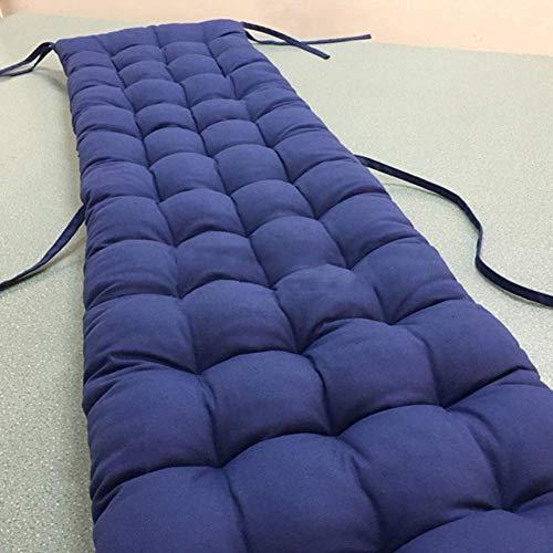 SCJ Cojín de Banco, Cojines de Asiento rectangulares Cojín de Ventana salediza Cojines de sillón universales para Muebles de Patio Omega copetudos, Azul Marino 50x170cm (20x67inch)