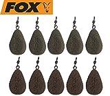 FOX Bleie Flat Pear Leads Karpfenbleie Wirbelbleie 10 Bleie, Festbleimontage, Karpfenangeln,...