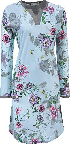 Hutschreuther Damen-Nachthemd Single-Jersey eisblau Größe 48