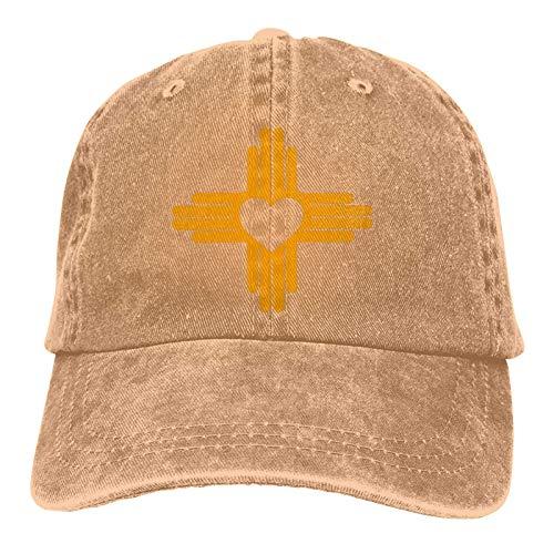 Trucker Cap Zia con Símbolo De Corazón - Bandera del Estado De Nuevo México Hiphop Personalizada Gorra De Béisbol con Protección Solar Impresión De Protección Solar Deportes Al Ai