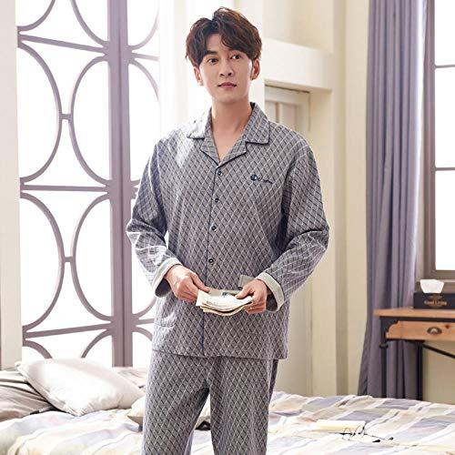 Badjas uit Koreaanse jas voor heren, herfst, nieuw katoen, pyjama lente, zonnig service voor thuis