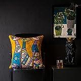 Fundas de Cojín, fundas para cojines,cojines para sofa con Cremallera Invisible Funda de Cojín para sofá Dormitorio CocheToalla abstracta Bordado Bordado Set de almohada 2pcs-Tesoro de lujo_45 * 45cm