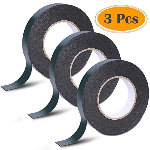Cerixo 30m (25mm) Schaumstoffband doppelseitiges Schwammband wasserdichtes Montage-Klebeband für Autoverkleidung, Zierleisten, LED