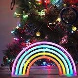 Rainbow luz de neón Señales luminosas LED Arco iris señales de neón Iluminación de ambiente vistoso Arco iris Iluminación de interior decoración para, bar, reunirse, navideña