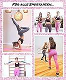 GYMTEX Sport Leggings Damen Blickdicht, High Waist und Seamless für Yoga und Fitness I Sportleggins Damen Lang in Grau oder Rosa - Pink Meliert GT1901 (M, Pink) - 4