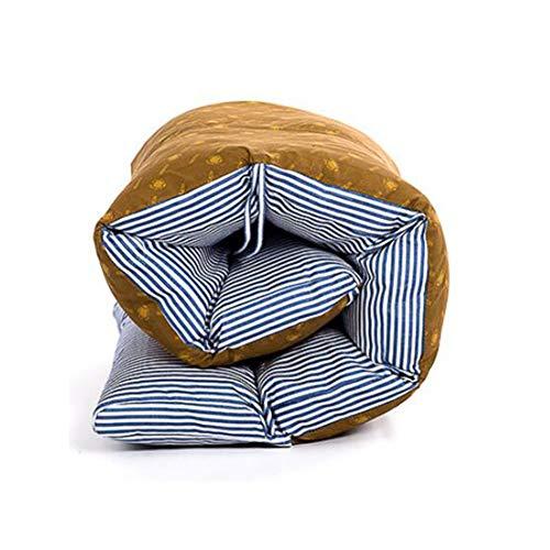 Cojín para Tumbona Topper, Repuesto Jardín Grueso Cojines de Asiento Reclinable Suave Almohadilla Plegable con Respaldo Cojín para Silla-Azul 165X57cm(65x22in)