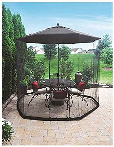 2021 Nueva sombrilla de jardín al aire libre Su sombrilla en una glorieta Mosquitera para sombrilla, Sombrilla de jardín al aire libre Pantalla de mesa Sombrilla Mosquitera Pantalla de mesa de patio A