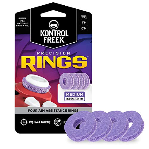 KontrolFreek Precision Rings | Aim Assist Motion Control for PlayStation 4 (PS4), PlayStation 5 (PS5), Xbox One, Xbox Series X, Switch Pro & Scuf Controller | Purple
