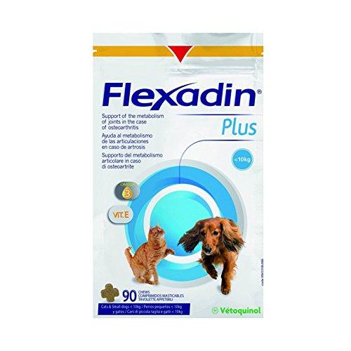 Vétoquinol Flexadin Plus per Cani di Taglia Piccola e Gatti 90 tavolette