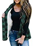 Women's Winter Buffalo Plaid Jacket Vest with Sherpa Fleece Lining