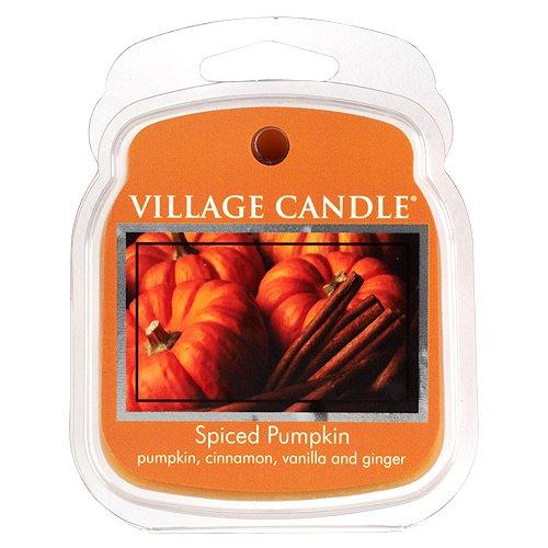 Village Candle Gewürzter Kürbis Duftwachs zum Schmelzen 62 g, Wachs, beige, 8.8 x 7.3 x 2.7 cm