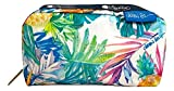 LeSportsac Lauren Roth Uluwehi HAWAII EXCLUSIVE Rectangular Cosmetic Bag/Pouch Style 6511/Color K605, Vibrant Tropical Flowers & Pineapples, Lauren Roth Signature Printed on Pattern