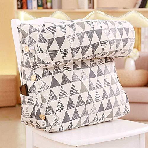 XJZM Lectura Almohada estéreo cuña Forma Respaldo Almohada Cintura cojín Lavable algodón Lino sofá Cojines Cama Resto Maternidad Tumbona Lectura triángulo (Color : Triangle)