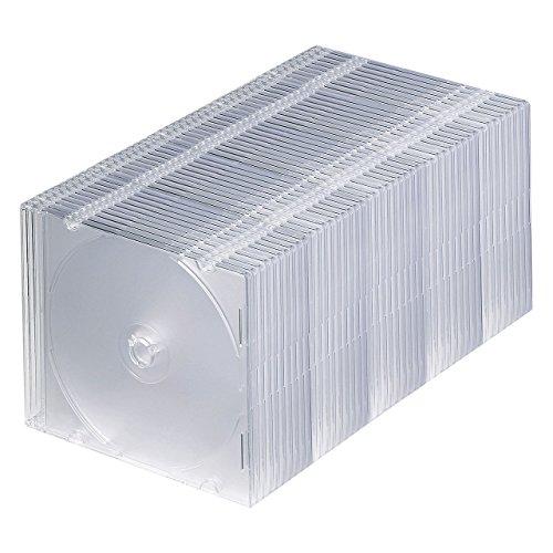 サンワサプライ 1枚収納×50枚セット スリムBD DVD CDケース クリア FCD-PU50C