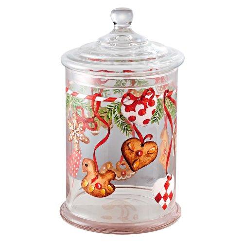 Hutschenreuther 02460-725492-45566 Weihnachtsleckereien Glas-Gebäckdose groß, 26 cm hoch, Durchmesser 15 cm