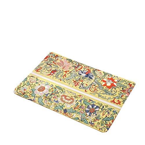Erfrischendes Rectangle Mat Fußmatte Anti Slip Blumen Flanell Druck europäischen Art-Fußboden-Pads Badmatte for Badezimmer Küche Home Decoration einfach ( Color : M2 , Specification : 50cmX80cm )