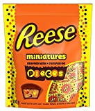reese pieces chocolate candy peanut butter cups, miniatures, 180 gram